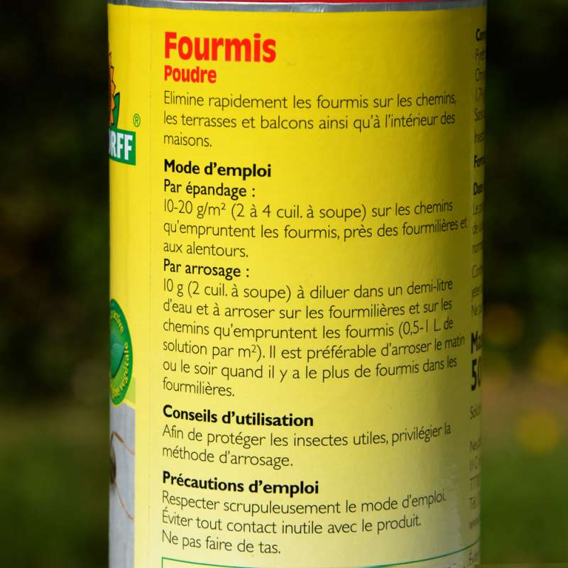 Anti fourmis destructeur de fourmili re cologique 500 g for Anti fourmis naturel maison