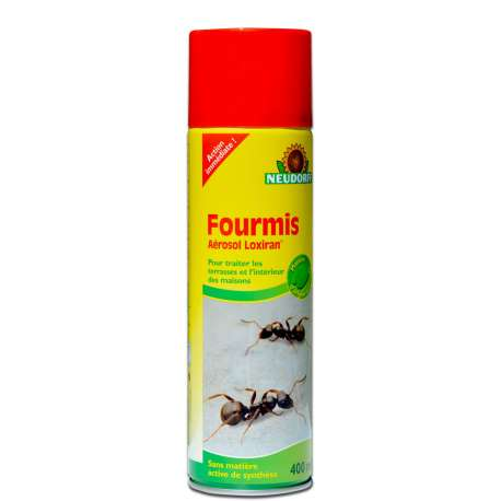 Bombe a rosol cologique anti fourmis action imm diate 400 ml for Anti fourmis dans la maison